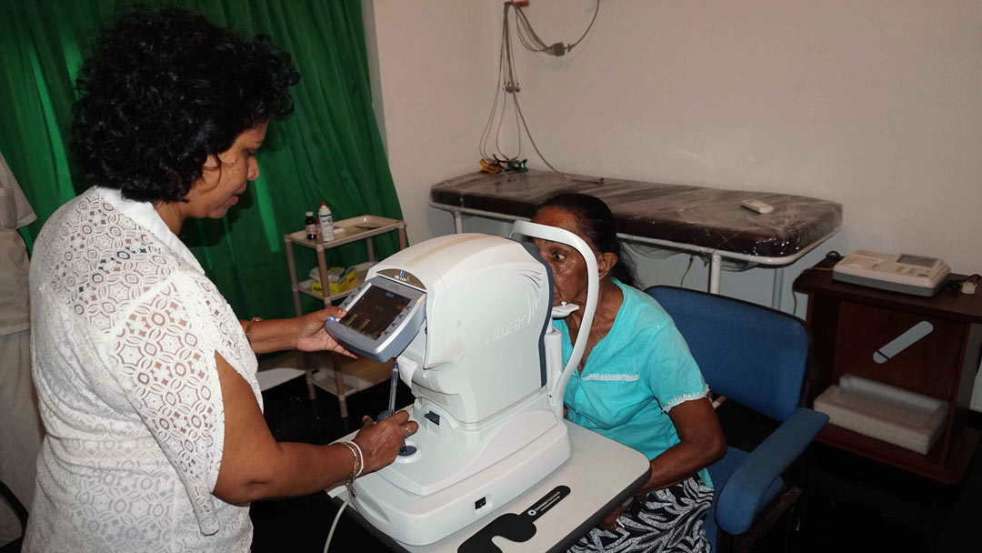 Organizing eye checkup camps and donating spectacles